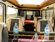 our Safari Vehicles - Inside